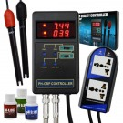 2 in 1 Digital pH & ORP Redox Controller w/ Separate Relays, Repleaceable Electrode & Calibration Solution