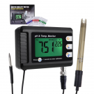 2-in-1 Combo pH & Temperature Meter w/ Replaceable BNC pH Electrode for Aquariums, Hydroponics & more