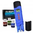 3-in1 Pen Type ORP/PH & Temperature Combo Meter W/ Automatic Temperature Compensation
