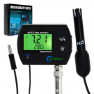 2-in-1 Continuous Temperature & PH Monitor w/ Backlight & Replaceable Electrode